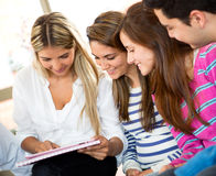 Students using a tablet Stock Photos