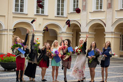 Students of Vilnius University Stock Images