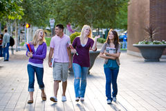 Students Walking Stock Photo