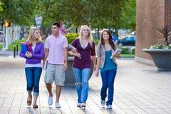 Students Walking Royalty Free Stock Photography