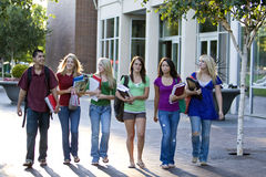 Students Walking Royalty Free Stock Photography