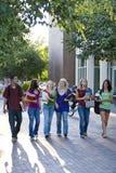 Students Walking Stock Photos