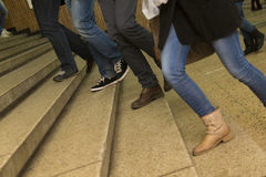 Free Students Walking On Stairs To There Classes Royalty Free Stock Photos - 39986758