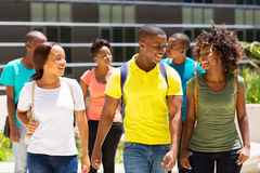 Students walking together stock image