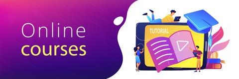 Video tutorial header banner. stock illustration