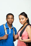Students Wearing Backpacks - Vertical royalty free stock photo