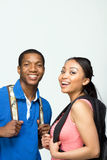 Students Wearing Backpacks - Vertical Royalty Free Stock Image