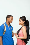 Students Wearing Backpacks - Vertical Stock Photos