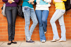Students wearing jeans Royalty Free Stock Photo