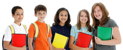 Students On White Background Royalty Free Stock Images