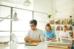 Students at work Stock Photography