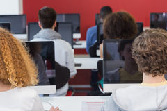 Students working in computer class Royalty Free Stock Photography