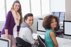 Students working in computer room Royalty Free Stock Photography