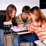 Students Working Together Royalty Free Stock Image