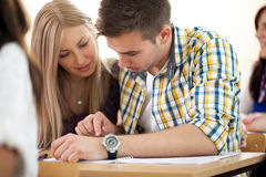 Students working together Royalty Free Stock Images