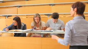 Students writing Royalty Free Stock Photography