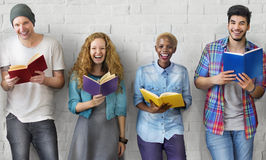 Students Youth Adult Reading Education Knowledge Concept Royalty Free Stock Photos