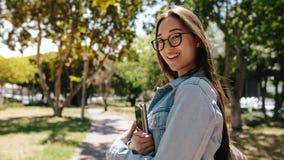 Studentstellung im Campus stockbilder