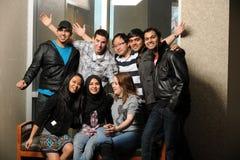 Studentverschiedenartigkeit auf Universitätsgelände Stockfotos
