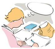 studera stock illustrationer