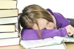 studera för flicka som är tonårs- Arkivbild