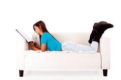 Studera för kvinna Arkivfoton