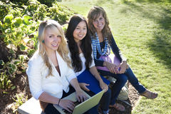 studera för kvinnliga deltagare royaltyfria foton
