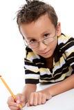 studera för pojke Royaltyfria Bilder
