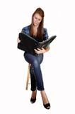 studera för schoolgirl royaltyfri fotografi