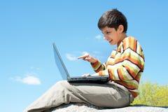 studera för yttersida för pojke stiligt Arkivfoto