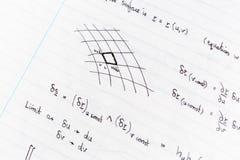 Studera matematik Arkivbild