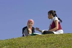 studera tillsammans Royaltyfria Bilder