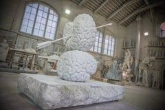 Studi della scultura di Nicoli, Carrara, Italia Immagine Stock