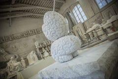 Studi della scultura di Nicoli, Carrara, Italia Fotografie Stock Libere da Diritti