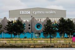 Studi della serratura di BBC Cymru Galles Roath Fotografie Stock Libere da Diritti