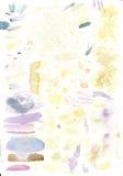 Studia miesza w akwareli kolor Fotografia Royalty Free