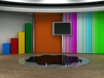 Studia tv wirtualny set Obrazy Royalty Free