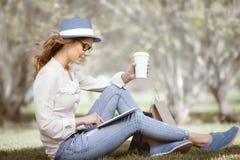 Studia w parku Obraz Royalty Free