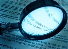 Studiando circa i prestiti Fotografia Stock Libera da Diritti