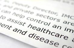 Studiando circa la sanità Immagini Stock Libere da Diritti