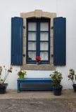 Studie av det dekorativa fönstret Arkivbild