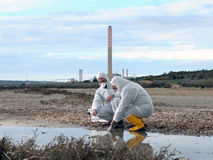 Studie der Umweltverschmutzung lizenzfreie stockfotografie