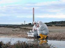 Studie der Umweltverschmutzung stockbild