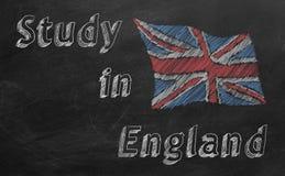 Studie in England lizenzfreie abbildung