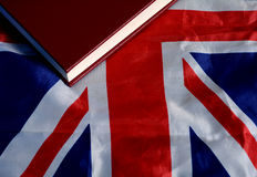 Studie för flaggautbildning i för UK - Förenade kungariket begrepp royaltyfri fotografi