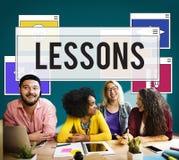 Studie för utbildningsexpertisövning som lär begrepp arkivbild