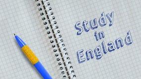 Studie i England royaltyfri illustrationer