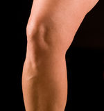 Studie, Knie der Frau Stockfotografie