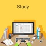 Studie oder Arbeitskonzeptillustration stock abbildung