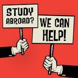 Studie utomlands? Vi kan hjälpa! vektor illustrationer